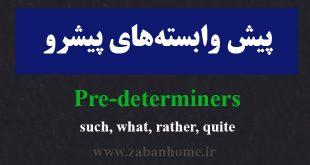 predeterminers
