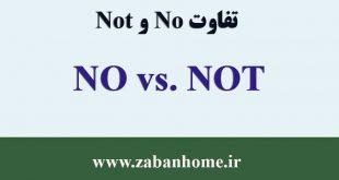 فرق no و not