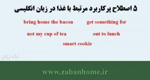 عبارات و اصطلاحات پرکاربرد مرتبط با غذا در زبان انگلیسی